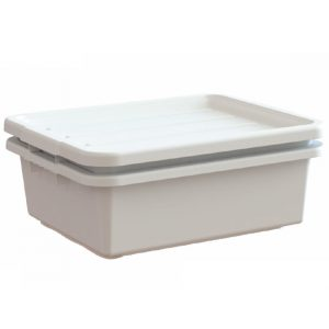 White perforated bus box drain kit
